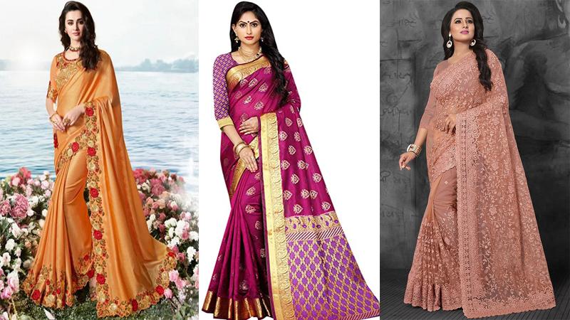5 Latest Designer Sarees Range From $100 – $200 In Amazon