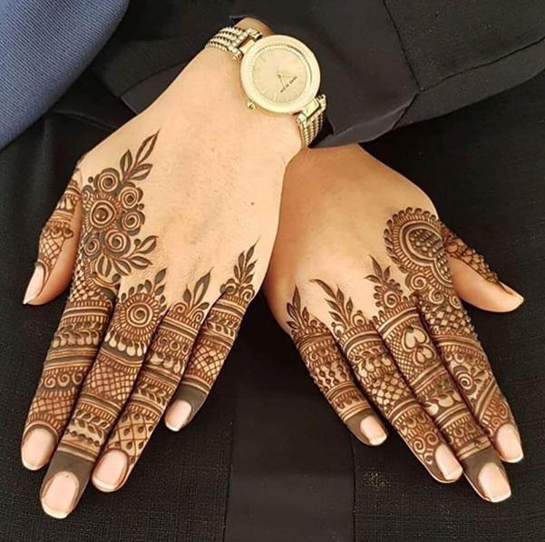Finger Mehandi Designs Arabic