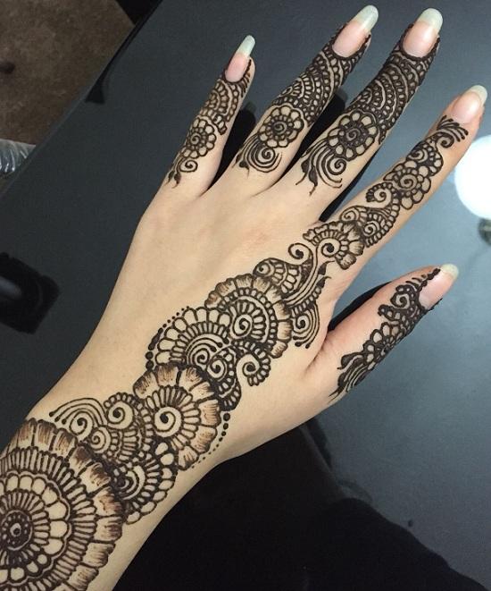 Floral Finger Mehendi Design