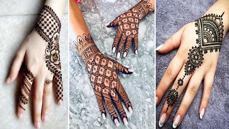finger mehndi front hand mehndi design 2021