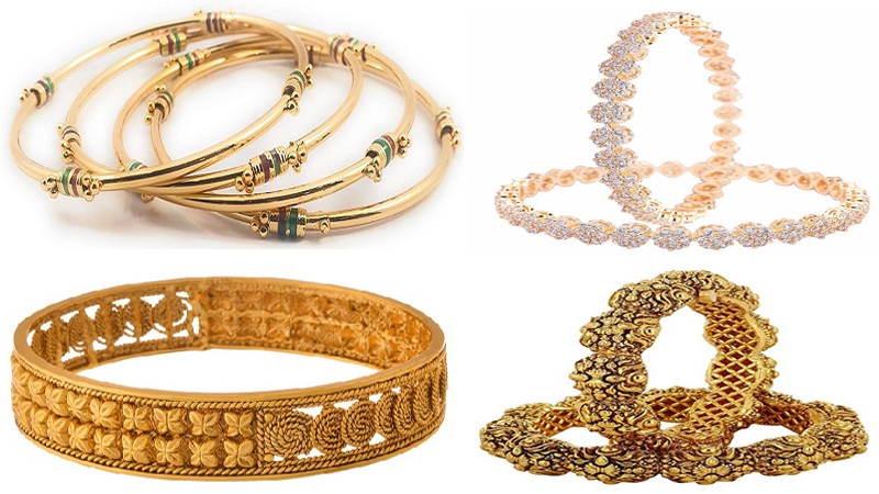 5 Latest Gold Plated Bangles Under 1000 Rupees In Amazon.in.