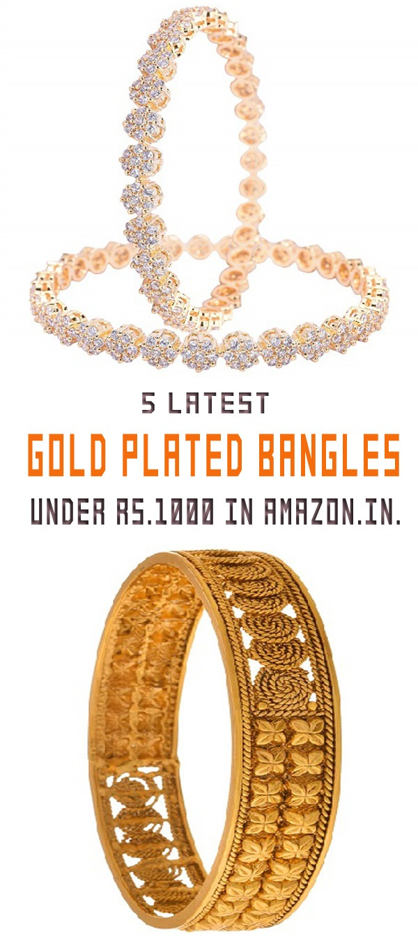 latest Gold Plated Bangles Under 1000 Rupees In india