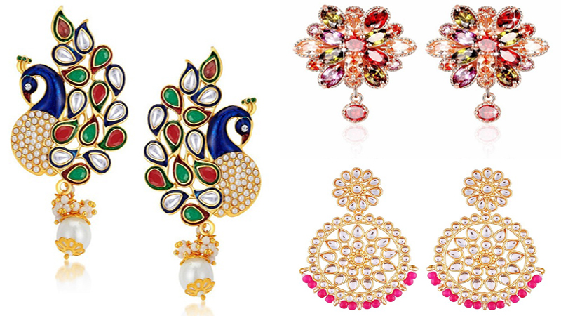 5 Latest Gold Plated Earrings Under 1000 Rupees In Amazon.in