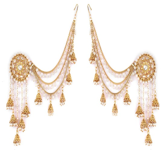 Gold Plated Pearl Jhumki Earring Design under 1000 rupees
