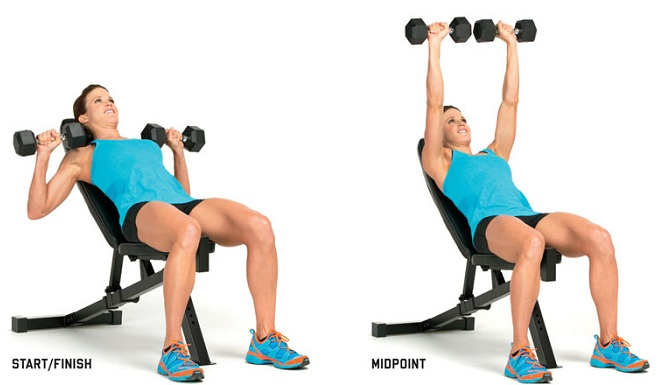 Incline Dumbbell Press Exercise