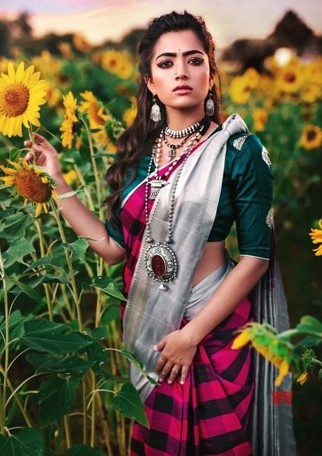 rashmika mandanna sarees photos