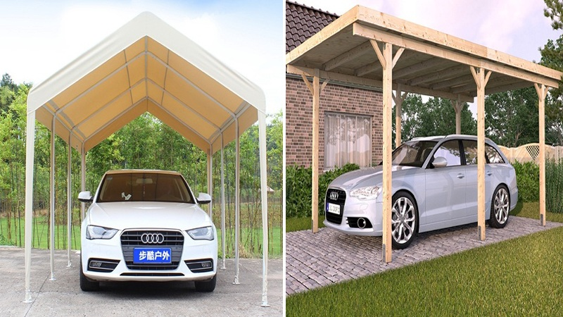 10 Latest Car Parking Shed Designs With Pictures In 2021